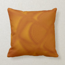 Bubbling Amber Throw Pillow