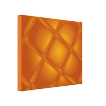 Bubbling Amber Wrapped Canvas