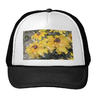 Bubbling Black-Eyed Susan Abstract Hats