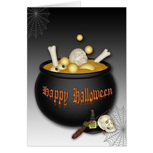 Bubbling Cauldron Halloween Card