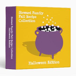 Bubbling cauldron potion yellow Halloween recipe Vinyl Binder