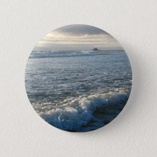 Bubbling Current Pinback Button