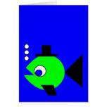 Bubbling Hat Fish Card