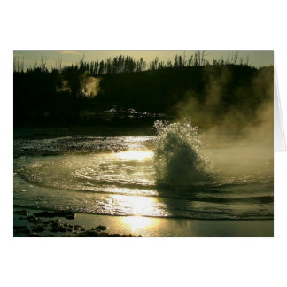 Bubbling hot spring (blank inside) greeting card