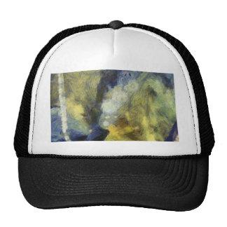 Bubbling of air inside an aquarium trucker hat