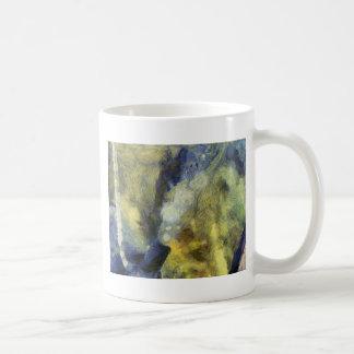 Bubbling of air inside an aquarium classic white coffee mug