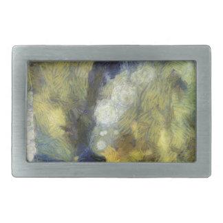 Bubbling of air inside an aquarium rectangular belt buckle