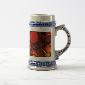 Bubbling Rainbow of Fractals Beer Stein