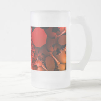 Bubbling Rainbow of Fractals Frosted Glass Beer Mug
