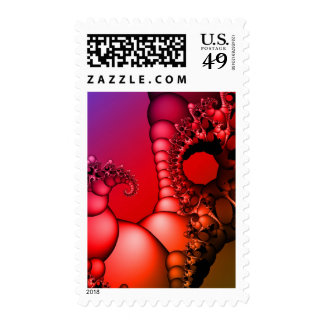 Bubbling Rainbow of Fractals Postage Stamp