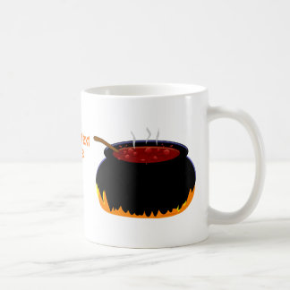 Bubbling Witch Cauldron Fun Halloween Classic White Coffee Mug