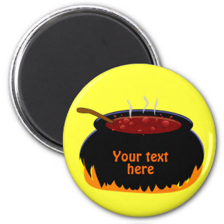 Bubbling Witch Cauldron Fun Halloween Magnet