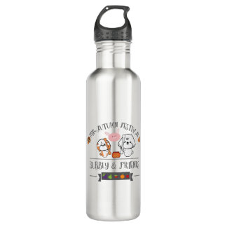 bubbly and friends celebrate mid autumn festival water bottle