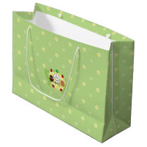 Bubbly and owls-enjoy spring large gift bag