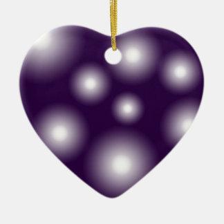 bubbly and purple ceramic ornament