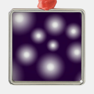 bubbly and purple metal ornament