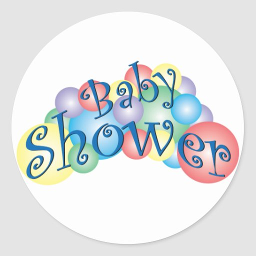 Bubbly Baby Shower Classic Round Sticker