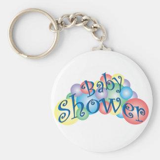 Bubbly Baby Shower Basic Round Button Keychain