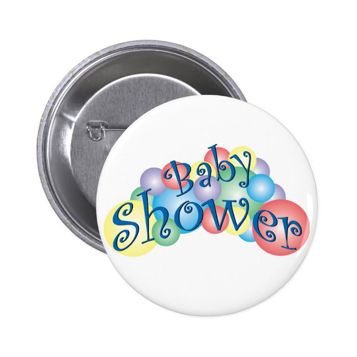 Bubbly Baby Shower Pinback Button