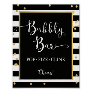 Bubbly Bar Pop Fizz Clink Sign