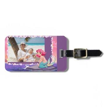 Beach Themed Bubbly beach summer cartoon mermaid photo frame luggage tag