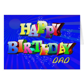 Bubbly birthday card for dad