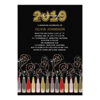 Bubbly Celebrations Graduation Photo Party Invite Personalized Announcements