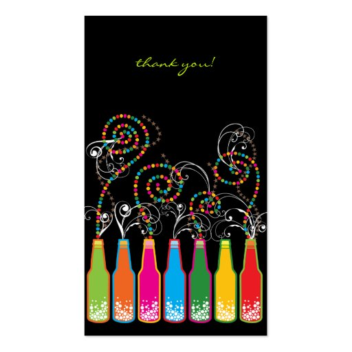 Bubbly Celebrations! Thank You Gift / Favor Tag / Business Card Templates