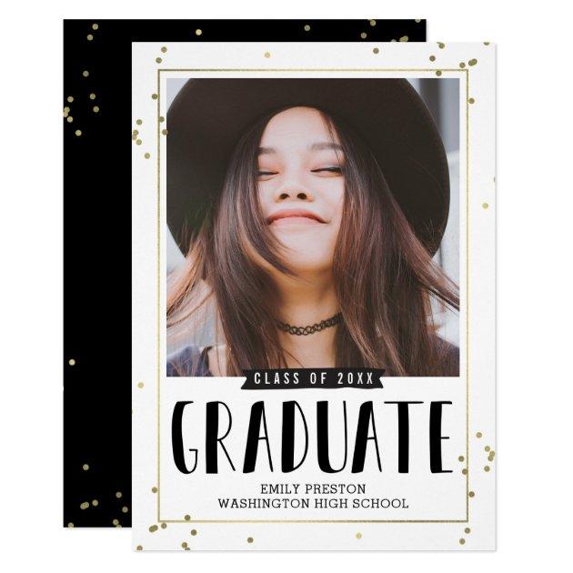 Bubbly Chic EDITABLE COLOR Graduation Invitation