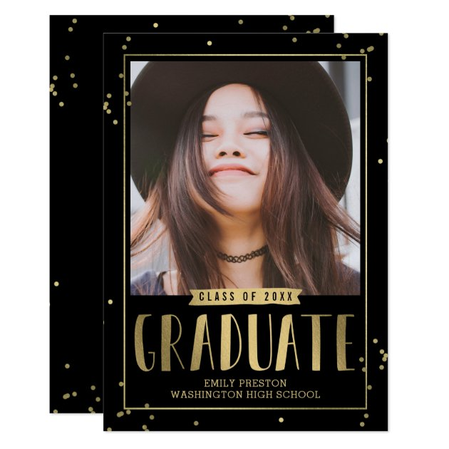Bubbly Chic EDITABLE COLOR Graduation Invitation