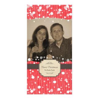 Bubbly Christmas Photo card
