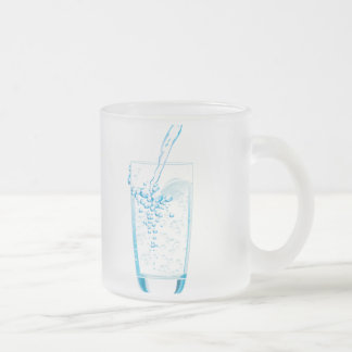 Bubbly Cold Water Frosted Glass Coffee Mug