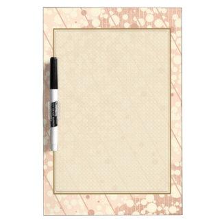 Bubbly Cream and Beige Dry-Erase Board