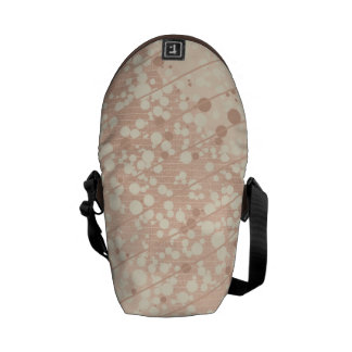 Bubbly Cream and Beige Messenger Bag