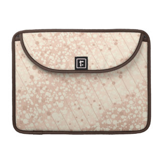 Bubbly Cream and Beige Sleeve For MacBooks