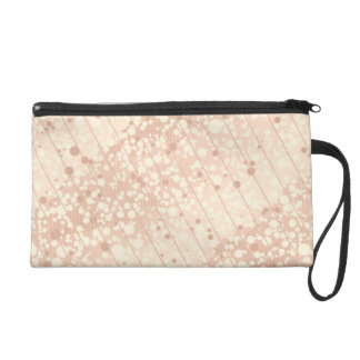 Bubbly Cream and Beige Wristlet Purse