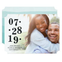 Bubbly Date | Photo Save the Date Card