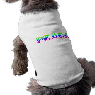 Bubbly Dot Rainbow PEACE Doggie Tshirt