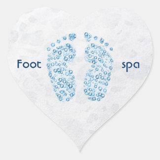 bubbly feet heart sticker
