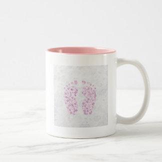 bubbly feet in pink Two-Tone coffee mug