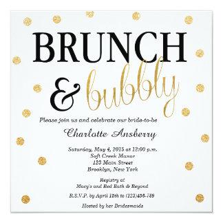 Bubbly Glitter Bridal Shower Invitation