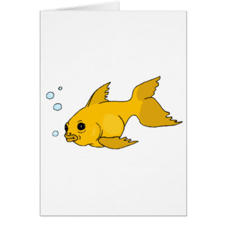 Bubbly Goldfish Card
