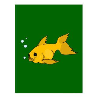 Bubbly Goldfish Postcard