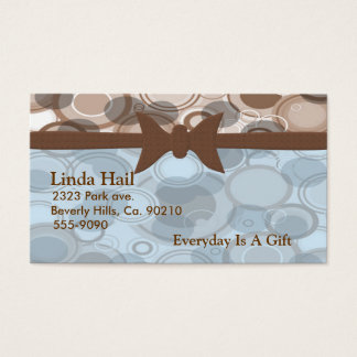 Bubbly Life With Bow Set Business Card