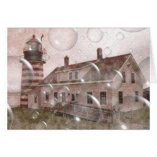 Bubbly Lighthouse 1 Card