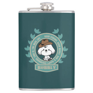 Bubbly- Mark twain Hip Flask