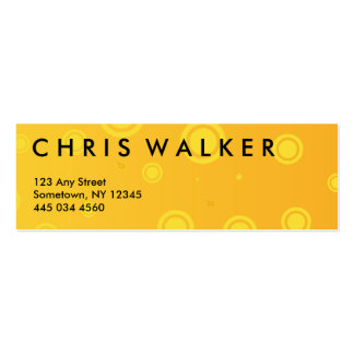 Bubbly orange and yellow business card