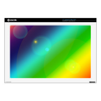 """Bubbly Rainbow 17"""" Laptop Decal"""