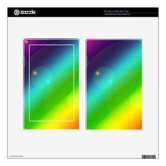 Bubbly Rainbow Skin For Kindle Fire