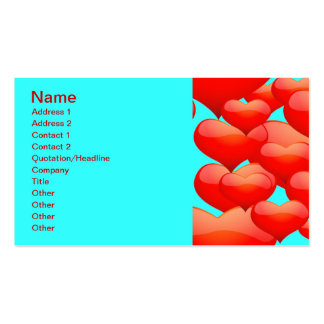 BUBBLY RED CINNAMON HEARTS LOVE HEARTS SQUARES GRE BUSINESS CARD